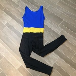 Fun 80s vintage unitard workout M
